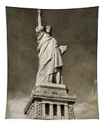 Statue Of Liberty Sepia Tapestry