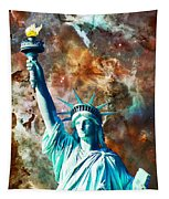 Statue Of Liberty - She Stands Tapestry