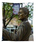 Statue Of Us President Bill Clinton Tapestry