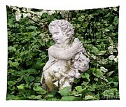 Statue Watercolor Effect Tapestry