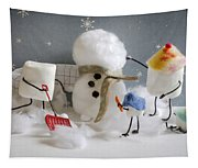 Stay Puff Snowman Tapestry