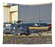 Stealth Air Attack Helicopter Tapestry