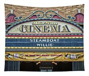 Steam Boat Willie Signage Main Street Disneyland 01 Tapestry
