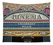 Steam Boat Willie Signage Main Street Disneyland 01 Tapestry
