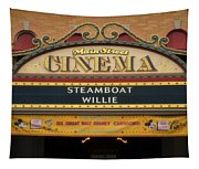 Steam Boat Willie Signage Main Street Disneyland 02 Tapestry