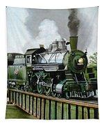 Steam Engine Locomotive Tapestry