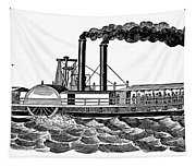 Steamboat, 19th Century Tapestry