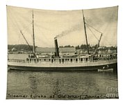 Steamer Eureka At Old Whaf Santa Cruz California Circa 1907 Tapestry
