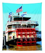 Steamer Natchez Paddleboat Tapestry