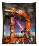 Steampunk - Alphabet - D Is For Death Ray Tapestry