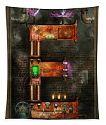 Steampunk - Alphabet - E Is For Electricity Tapestry