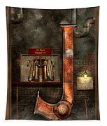 Steampunk - Alphabet - J Is For Jet Pack Tapestry