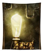 Steampunk - Alphabet - L Is For Light Bulb Tapestry