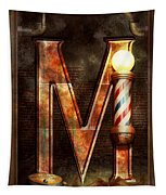Steampunk - Alphabet - M Is For Mustache Tapestry