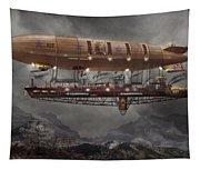 Steampunk - Blimp - Airship Maximus  Tapestry