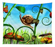 Steampunk - Bugs - Evolution Take Time Tapestry