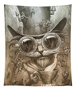 Steampunk Cat Tapestry