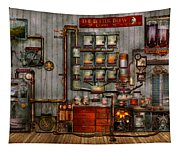 Steampunk - Coffee - The Company Coffee Maker Tapestry