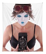 Steampunk Geisha Photographer II Tapestry