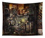 Steampunk - The Turret Computer  Tapestry
