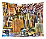 Steampunk Woodshop 4 Tapestry