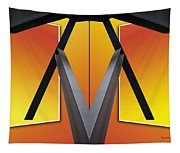 Steel Beams 02 Mirror Image Tapestry