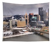 Steel City Storm Clouds Tapestry