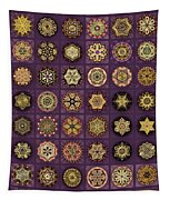 Stellars One Dingbat Quilt Tapestry