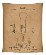 Stethoscope 1882 Patent Art Brown Tapestry
