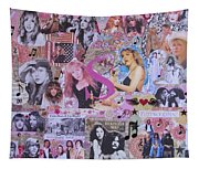 Stevie Nicks Art Collage Tapestry