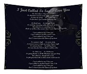 Stevie Wonder Gold Scrolled Called To Say I Love You Tapestry