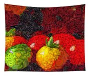 Still Life Tomatoes Fruits And Vegetables Tapestry