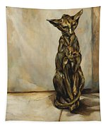 Still Life With Cat Sculpture Tapestry