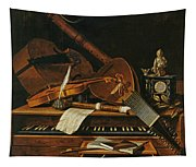 Still Life With Musical Instruments Tapestry