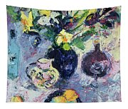 Still Life With Turquoise Bottle Tapestry