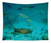 Stingray And Fish Tapestry