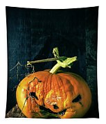 Stingy Jack - Scary Halloween Pumpkin Tapestry