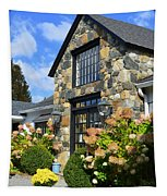 Stone Building In Connecticut Tapestry