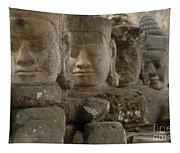 Stone Figures Cambodia Tapestry
