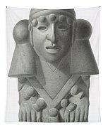 Stone Idol Of The Rain God Cocijo Tapestry