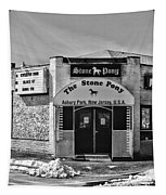 Stone Pony In Black And White Tapestry