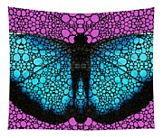 Stone Rock'd Butterfly 2 By Sharon Cummings Tapestry