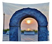 Sunrise Through The Arch - Rehoboth Beach Delaware Tapestry