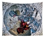 Stones And Fall Leaves Under Water-41 Tapestry