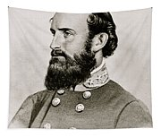 Stonewall Jackson Confederate General Portrait Tapestry