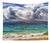 Storm Across The Channel Tapestry