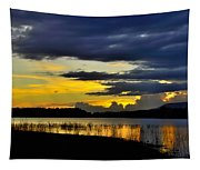 Storm At The Lake Tapestry