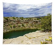 Storm Clouds Over Montezuma Well Tapestry