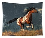 Storm Mustang Tapestry