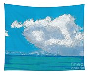 Storm Off The Beach Tapestry